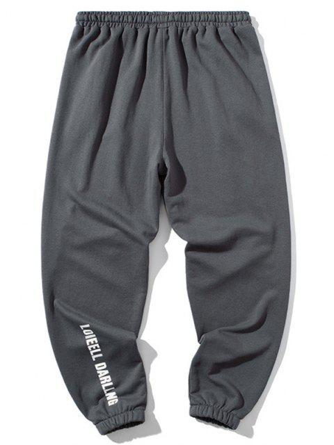 Pantalones Deportivos con Parche de Color Bloque - Nube Gris 3XL Mobile