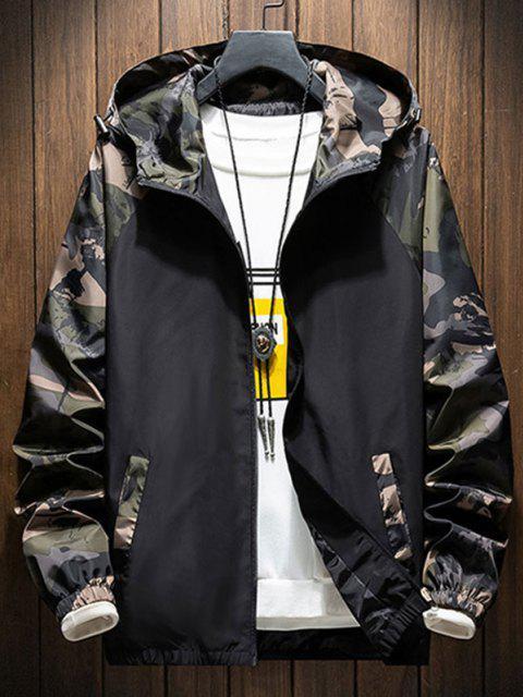 best Hooded Raglan Sleeve Camouflage Print Jacket - ARMY GREEN 3XL Mobile
