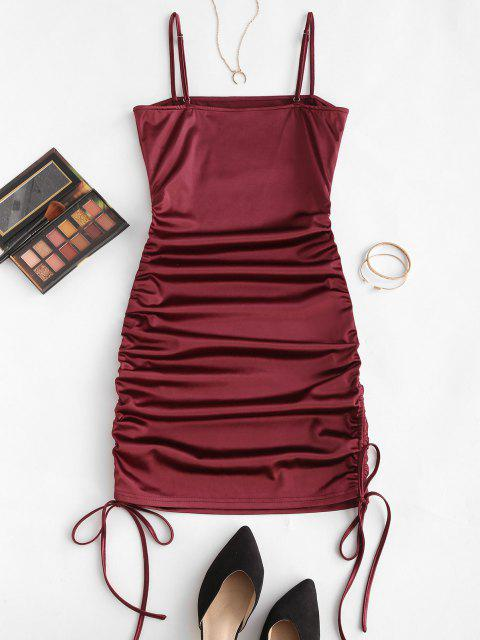 ZAFUL Bodycon Kleid mit Spaghettibügel - Roter Wein L Mobile