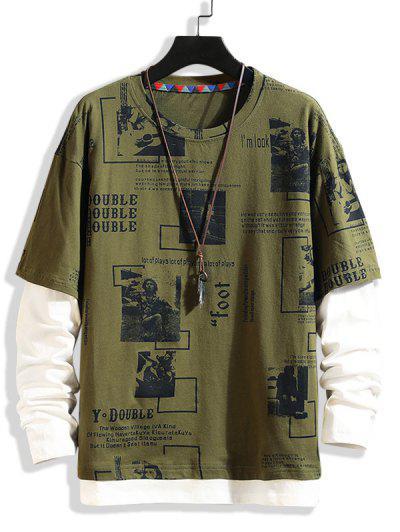 T-shirt Gráfico Falso Twinset - Exército Verde 3xl
