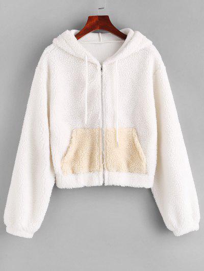 ZAFUL Veste à Capuche Zippée Avec Poche - Blanc M