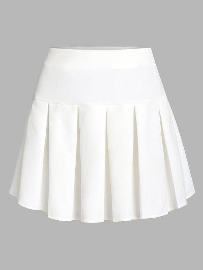 ZAFUL Pleated Mini Skirt - White S