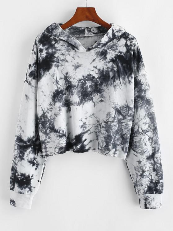 Lou-Ann Vecchia X ZAFUL Tie Dye Drop Shoulder Raw Hem Hoodie - متعددة-A S