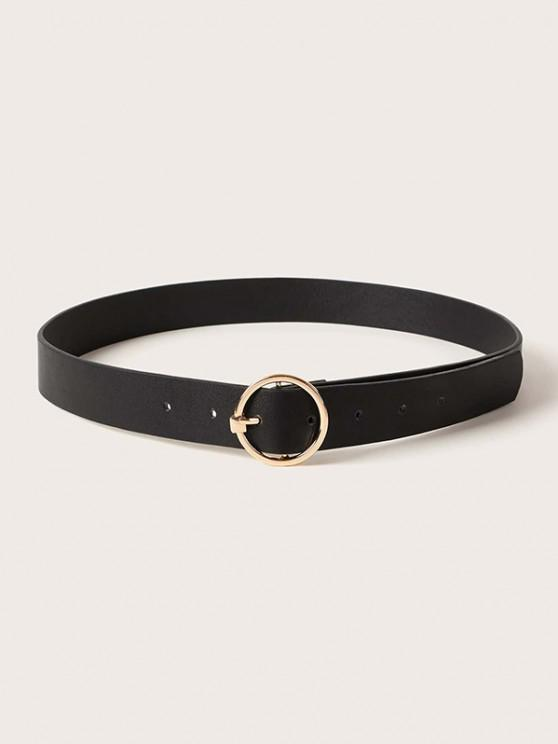 womens Brief Circular Pin Buckle Belt - BLACK