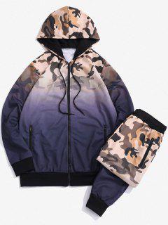 Camouflage Druck Zweiteiliges Set - Lila Xs