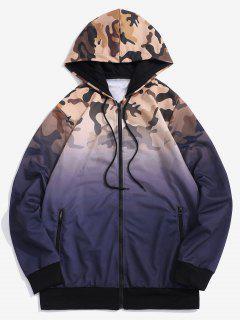 Veste à Capuche Camouflage Ombrée Imprimé - Pourpre  Xs