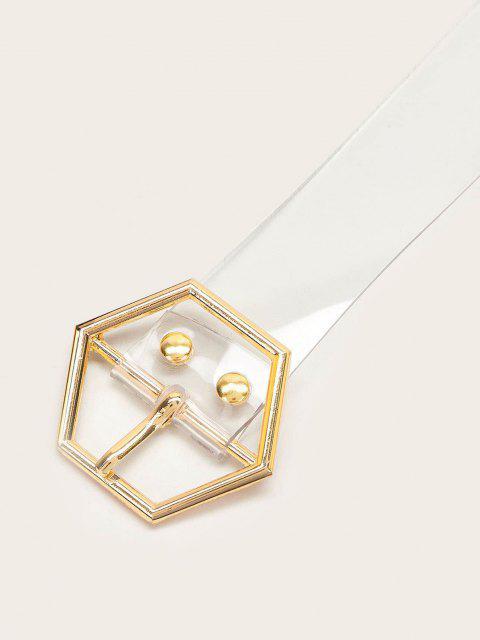 sale Geometric Buckle Grommet Transparent Belt - TRANSPARENT  Mobile