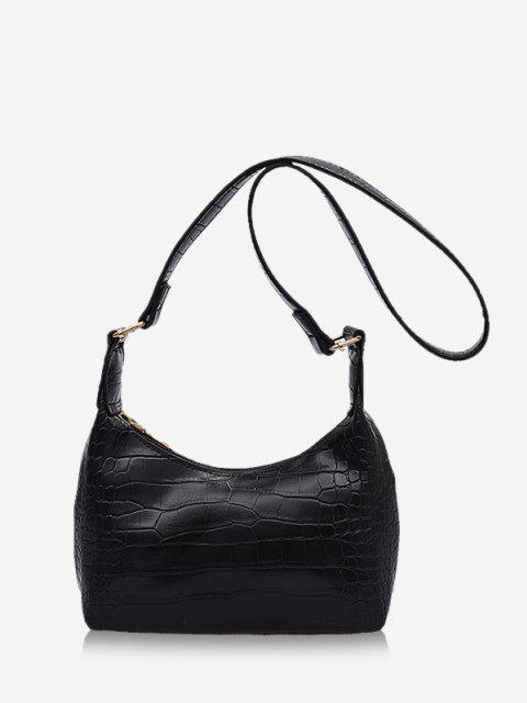 buy Solid Textured Crossbody Shoulder Bag - BLACK  Mobile