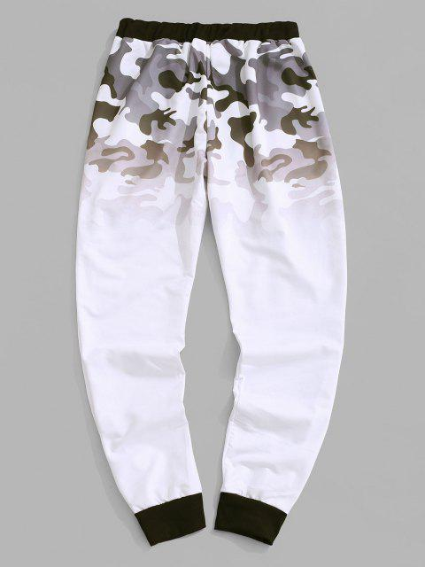 Pantalon Camouflage Ombre Imprimé à Pieds Etroits - Blanc XS Mobile