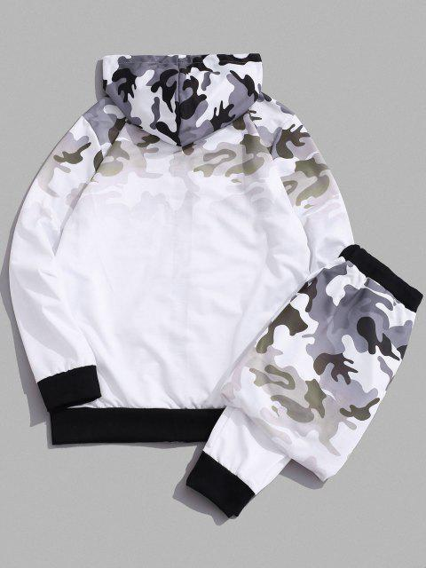 online Camouflage Ombre Print Two Piece Set - WHITE XS Mobile
