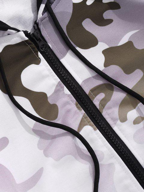 Veste à Capuche Camouflage Ombrée Imprimé - Blanc L Mobile