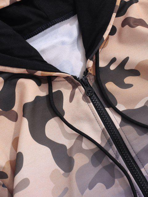 Veste à Capuche Camouflage Ombrée Imprimé - Pourpre  XS Mobile