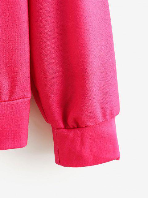 Sudadera Talla Extra Estampado Labios - Rosa Roja S Mobile