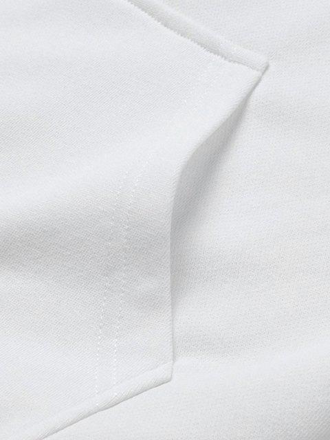 Veste Lettre Graphique Panneau en Blocs de Couleurs - Blanc L Mobile