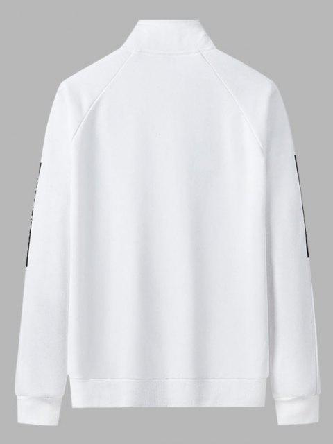 Blouson Lettre Tropicale Imprimée en Blocs de Couleurs Latérale 18 mm - Blanc L Mobile