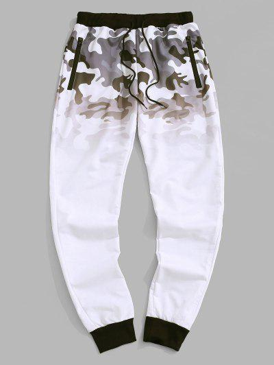 Pantaloni Con Stampa Sfumata - Bianca Xs