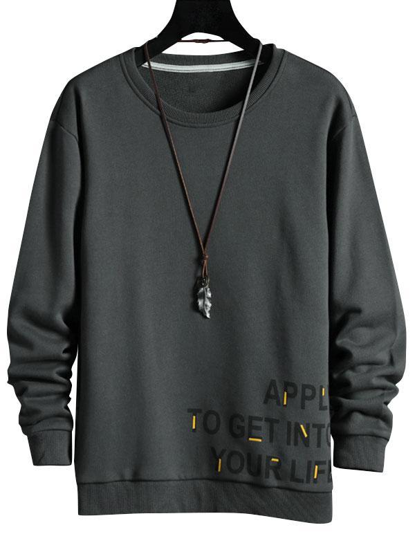 Zaful Letters Graphic Print Sweatshirt