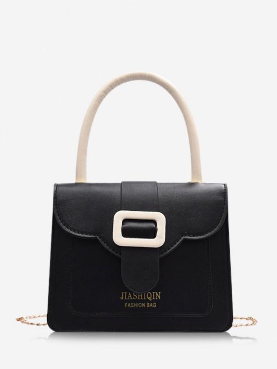 shop Colorblock Chain Square Crossbody Bag - BLACK