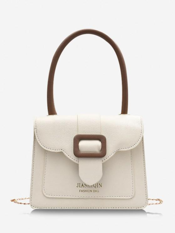 shops Colorblock Chain Square Crossbody Bag - MILK WHITE