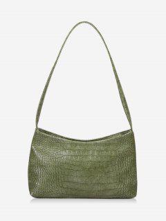 Textured Solid French Style Shoulder Bag - Camouflage Green