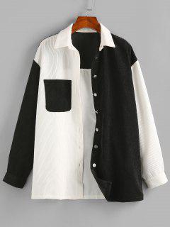 ZAFUL Corduroy Two Tone Pocket Shirt Jacket - Multi-a L