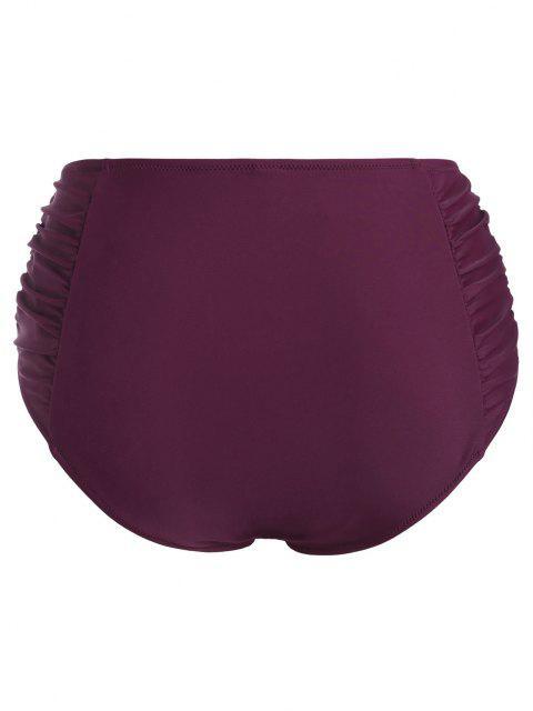 hot ZAFUL Plus Size Ruched High Rise Bikini Bottom - CONCORD XXXL Mobile