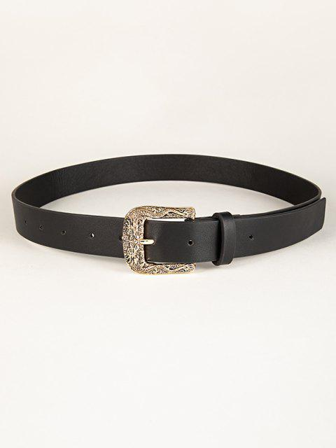 fancy Retro Engraved Dragon Buckle Belt - BLACK  Mobile