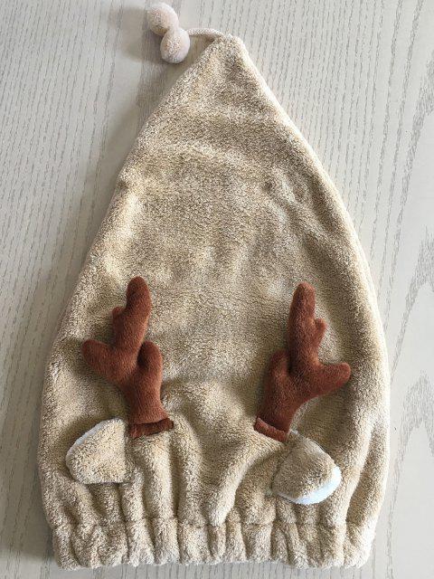 latest Cartoon Antler Fleece Absorbent Hair Drying Towel Cap - MULTI-A  Mobile