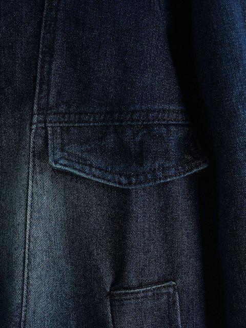 Casaco Denim com Capuz Destacável - Azul Escuro de Denim  M Mobile