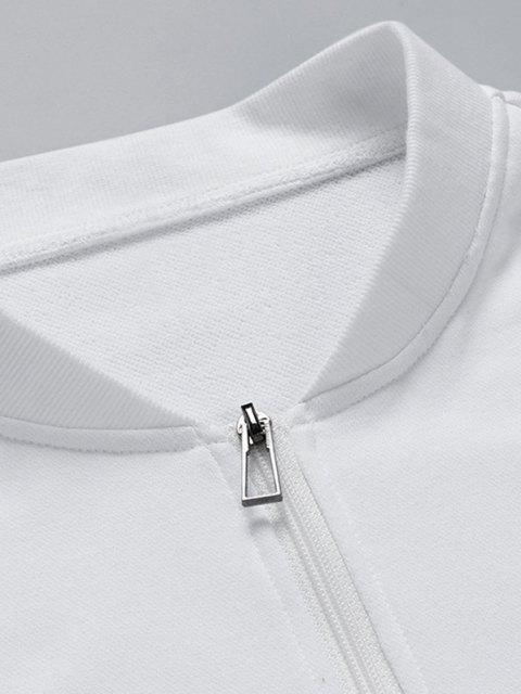 Veste Lettre Imprimée en Blocs de Couleurs - Blanc XS Mobile