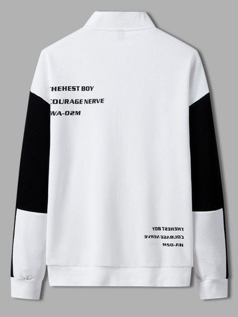 Veste Lettre Imprimée en Blocs de Couleurs - Blanc L Mobile