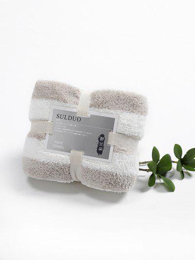 Fleece Striped Pattern Absorbent Face Towel - Multi-a