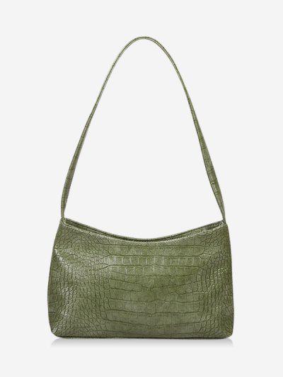 Bolsa De Hombro Caído Con Textura - Verde Camuflaje