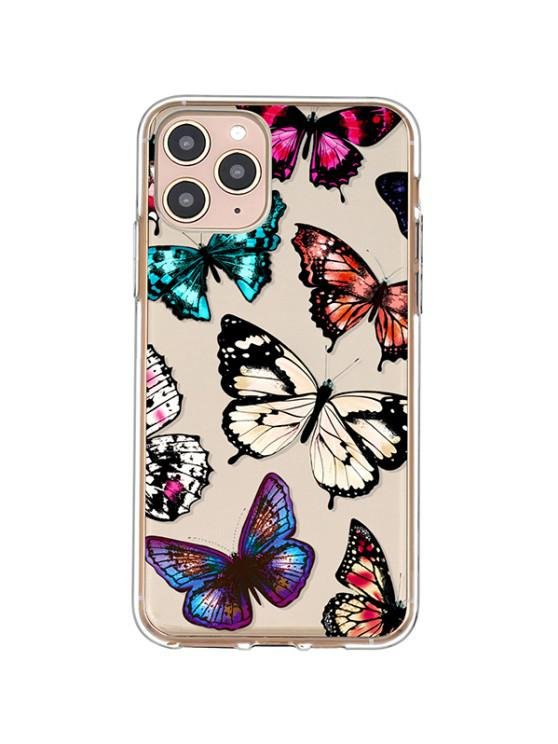 lady Butterfly Print TPU Phone Case For IPhone - BLACK IPHONE 11PRO