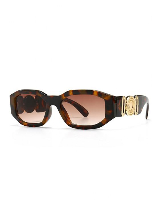 outfits Retro Irregular Metal Embellished Sunglasses - LEOPARD