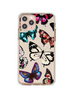 Butterfly Print TPUPhone Case For IPhone - Black Iphone 11pro
