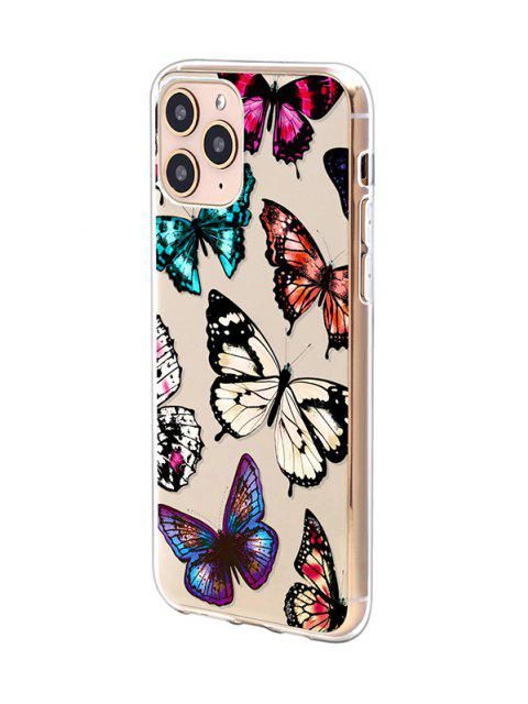 lady Butterfly Print TPUPhone Case For IPhone - BLACK IPHONE 11PRO Mobile