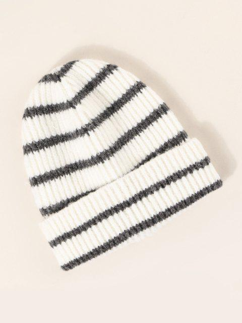 new Winter Striped Pattern Knitted Hat - MULTI-A  Mobile