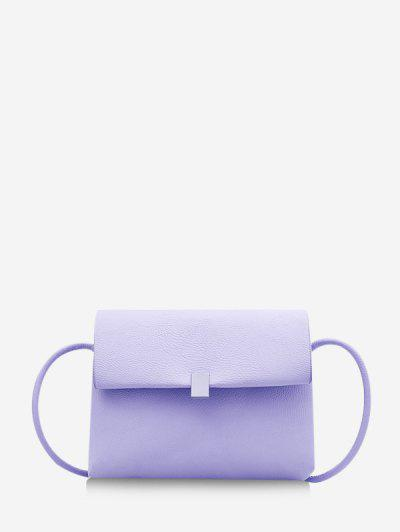 Scurt Solid Cover Crossbody Bag - Mov