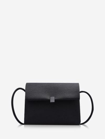 Solid Brief Cover Crossbody Bag - Black