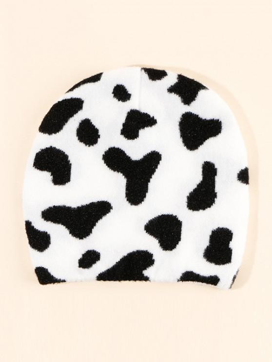 best Cow Pattern Knitting Hat - MILK WHITE