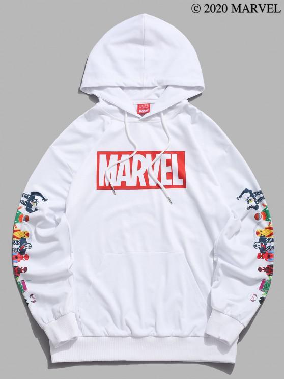 Marvel Spider-Man Spider-chica Venom Imprimir con capucha del bolsillo de canguro - Blanco S