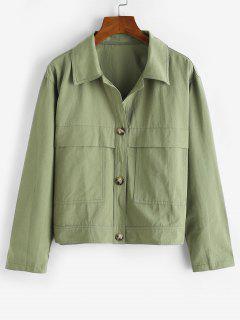 Front Pocket Shacket - Light Green S