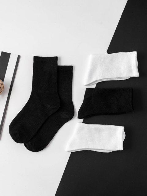 new 2 Pairs Solid Crew Socks Set - MULTI-A  Mobile