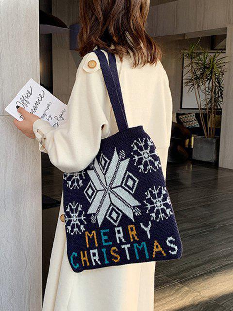 Bolsa de Mão de Cor de Árvore de Natal - Preto  Mobile