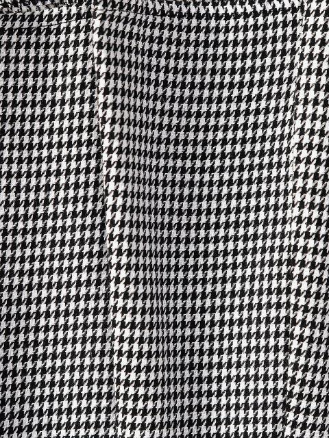 fancy ZAFUL Houndstooth Pleated Mini Skirt - BLACK S Mobile