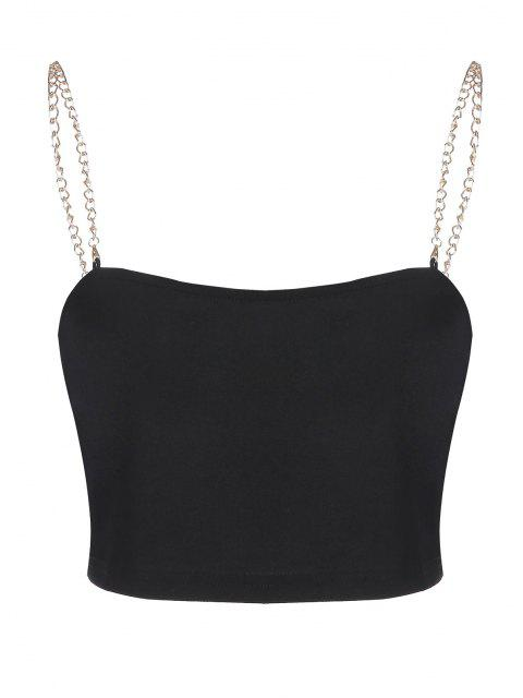 affordable ZAFUL Chain Strap Crop Tank Top - BLACK XL Mobile