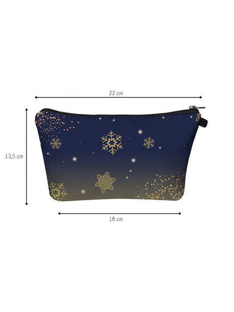 Copo de Nieve de Navidad de Estampado Bolsa de Maquillaje - Azul de Pizarra Oscuro  Mobile