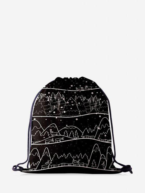 Bolso del Bloque del Color de Dibujo Coloreadas de Navidad - Negro  Mobile