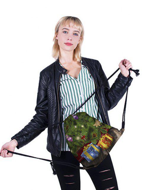 new Christmas Gifts Pattern Cinch Bag - SEAWEED GREEN  Mobile